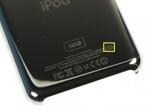 Identification du modèle d'un iPod Touch