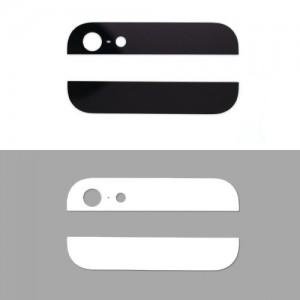 Vitres arrière haut et bas pour iPhone 5 - Noir ou Blanc