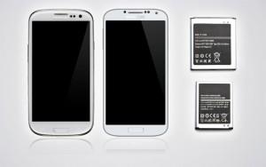 Vitres et batteries pour Samsung Galaxy S3 et S4